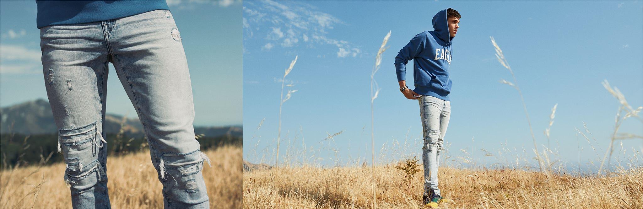 ג'ינסים טרנדים לגברים