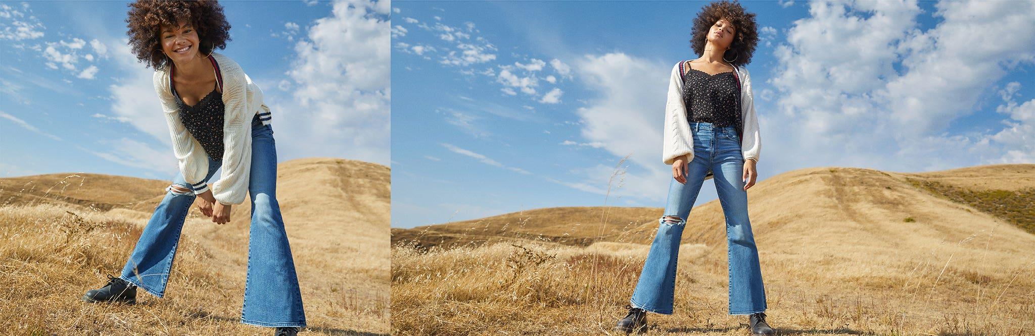 ג'ינסים טרנדים לנשים
